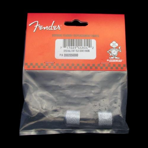 Fender® Tele® and P-Bass Dome Top Knobs (Chrome)