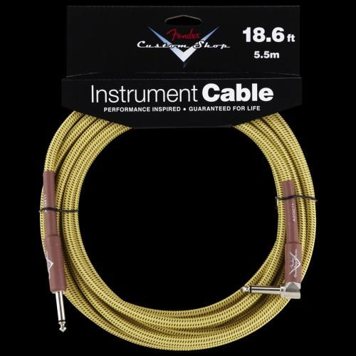 Fender® Custom Shop Tweed Instrument Cable (18.6 Foot) Angle/Straight