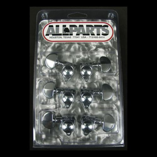 Grover 3 Per Side Guitar Tuners (Chrome)