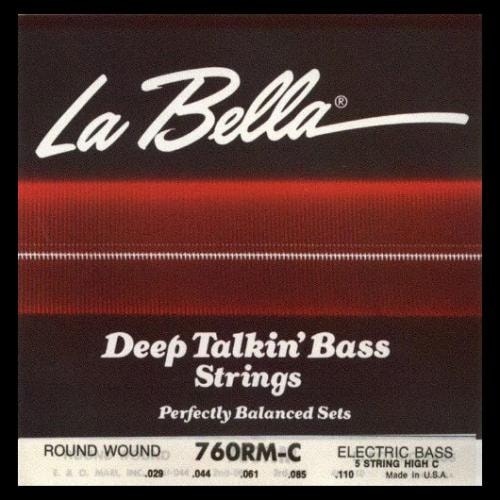 La Bella Deep Talkin` Bass Electric Bass Guitar Strings (Medium Extra Long 29-110)