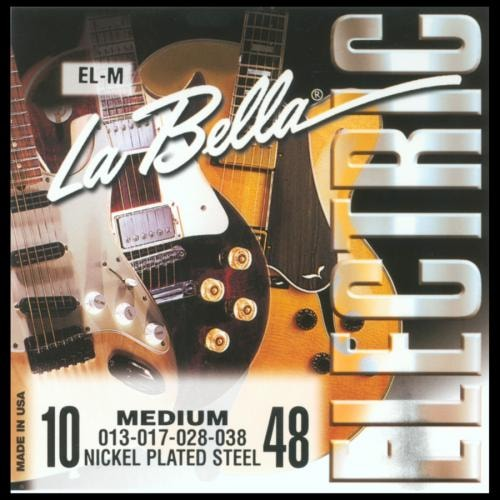 La Bella Nickel-Plated Roundwound Strings (Medium 10-48)