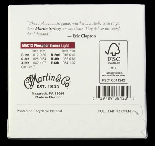 Martin Clapton's Choice 92/8 Acoustic Strings (Light 12-54)