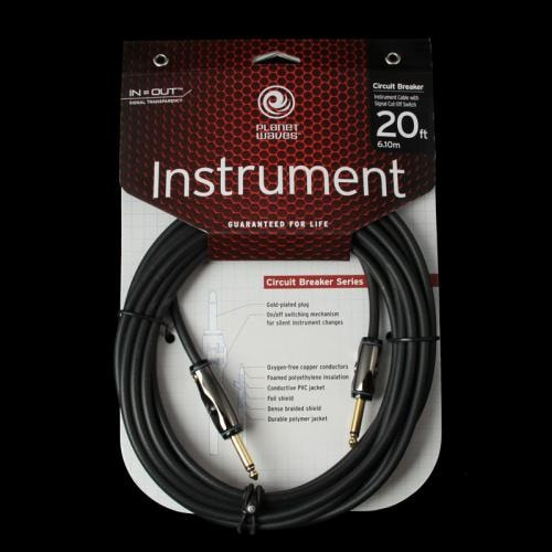 D'Addario Planet Waves Circuit Breaker Instrument Cable (20 Foot)