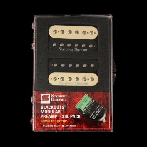 Seymour Duncan Blackouts Coil Pack Pickups and Modular Preamp Set (Zebra)