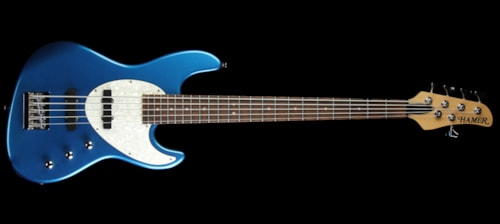 Hamer Cruise Bass 5-String Electric Bass Guitar Candy Blue