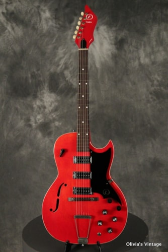 ~1960 Kay Concert Hall series K563 w/flame maple back