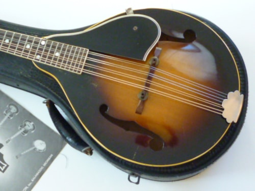 1956 gibson a 50 w vintage gibson catalog sunburst mandolin family gothic city guitars. Black Bedroom Furniture Sets. Home Design Ideas