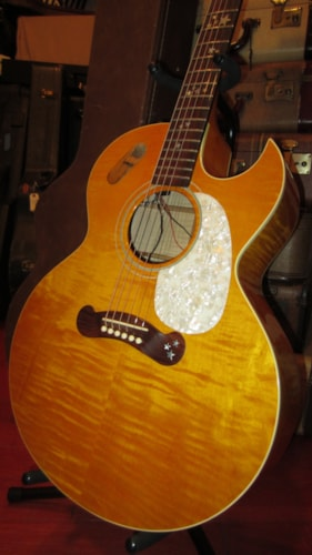 1992 Gibson Starburst Amber Curly Maple Gt Guitars Flattop