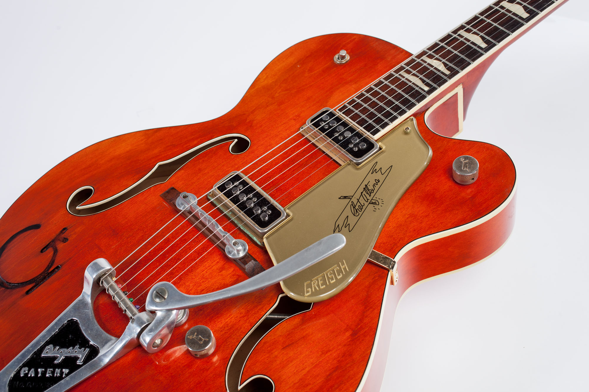 1957 gretsch 6120 chet atkins red amber guitars archtop electric acoustic jet city guitars. Black Bedroom Furniture Sets. Home Design Ideas