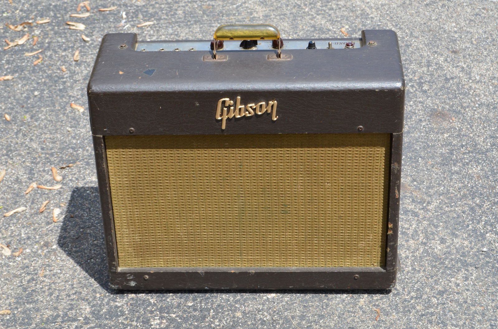 1957 gibson ga 6 brown amps preamps dayton vintage guitars and amps. Black Bedroom Furniture Sets. Home Design Ideas