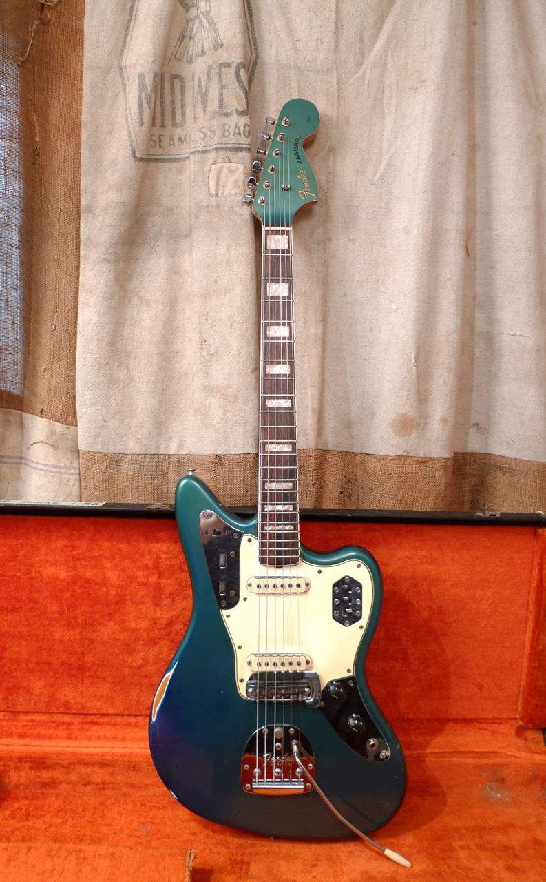 img fender white jaguar chimp products olympic guitar refinished