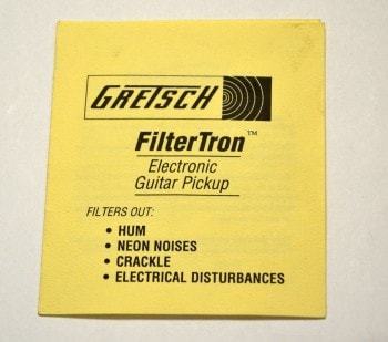 1957 Gretsch® Filtertron Hang Tag