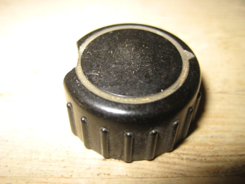 ~1961 Vox Knob Early 1960's Black Gold Ribbed Edge AC-30 AC-15 AC-10 e