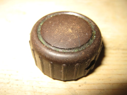 ~1961 Vox Knob Early 1960's Brown Dome Ribbed Knob AC-10 etc