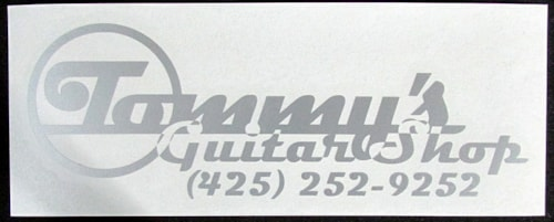 Top Left Industries Tommy's Guitar Shop Sticker