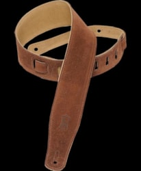 Levy's MS26 Soft Suede Guitar Strap - Brown