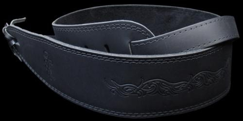 SEAGULL Leather Guitar Strap (Black)