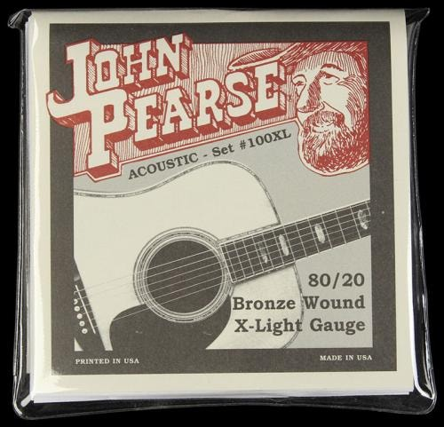 John Pearse 100XL Bronze Wound Acoustic Guitar Strings X-Light 80/20 (10-47)