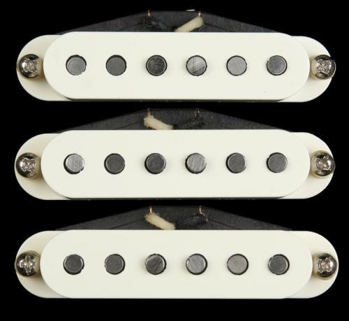 Bare Knuckle Pat Pend Strat® Series '63 Veneer Pickup Set Parchment