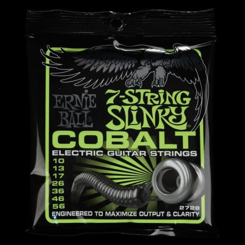 Ernie Ball Cobalt 7-String Regular Slinky Electric Guitar Strings (10-56)