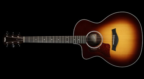 Taylor 214ce DLX Left-Handed Acoustic-Electric Guitar Sunburst
