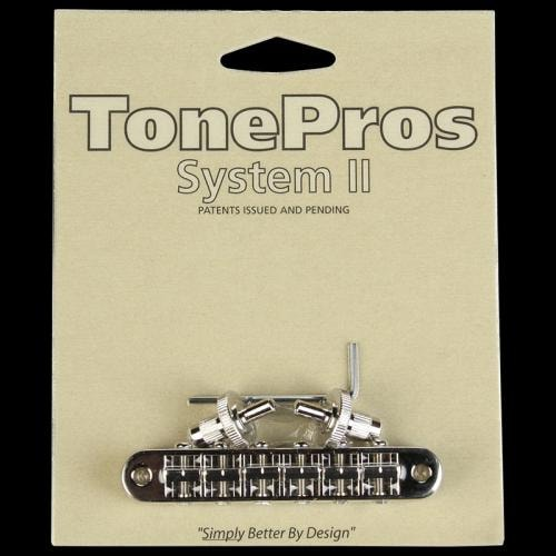 TonePros Tone Pros T3BP-N Nashville Tunematic Nickel Locking Bridge