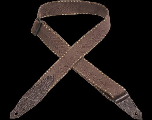 Levy's MSSC80 Cowboy Boot Guitar Strap Brown