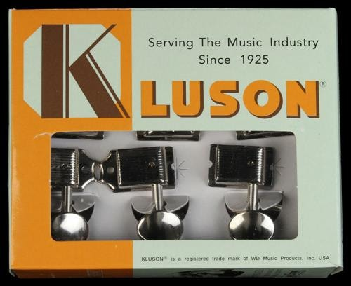 Kluson 6 In-Line Oval Vintage Tuning Machines Nickel