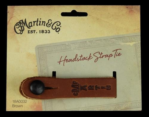 Martin Headstock Tie Guitar Strap Button (Brown)
