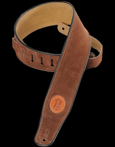 Levy's MSS3 Signature Series Suede Guitar Strap Brown