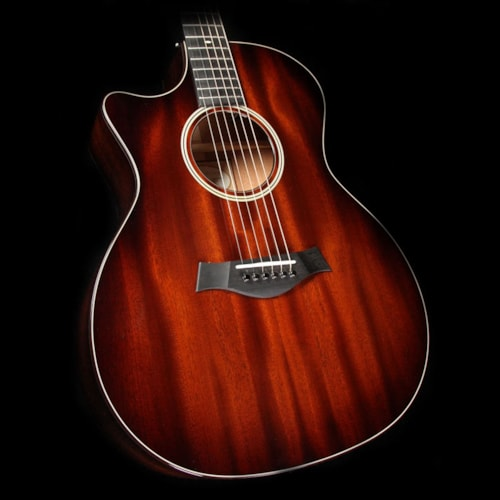 Taylor 524ce Left-Handed All-Mahogany Grand Auditorium Acoustic-Electric Guitar Tobacco Edgeburst