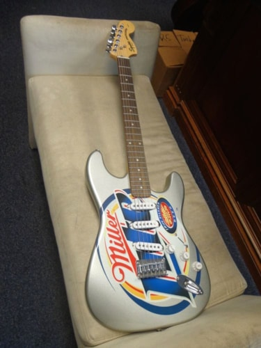 "2005 Squier By Fender Stratocaster ""Miller Lite"" Limited Edition"