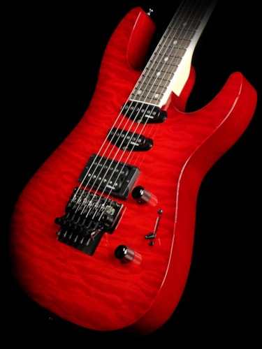 Caparison Used Caparison C2 Series DEG-QD-SSH Electric Guitar Transparent Red Burst