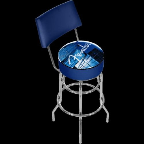 Fender 30 Quot Barstool Seat Stool Chair W Back Stacked Blue