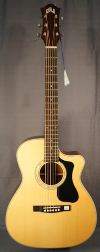 Guild Guitars NEW! Guild F-130CE NAT Acoustic Electric Guitar With Case.