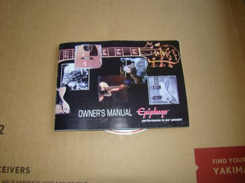 1990 Epiphone Guitar Owners Manual