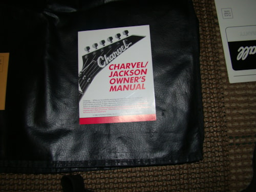 1990 Charvel Jackson Owners Manual