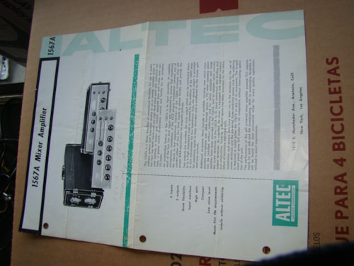 Altec 1567A Mixer Amp Manual