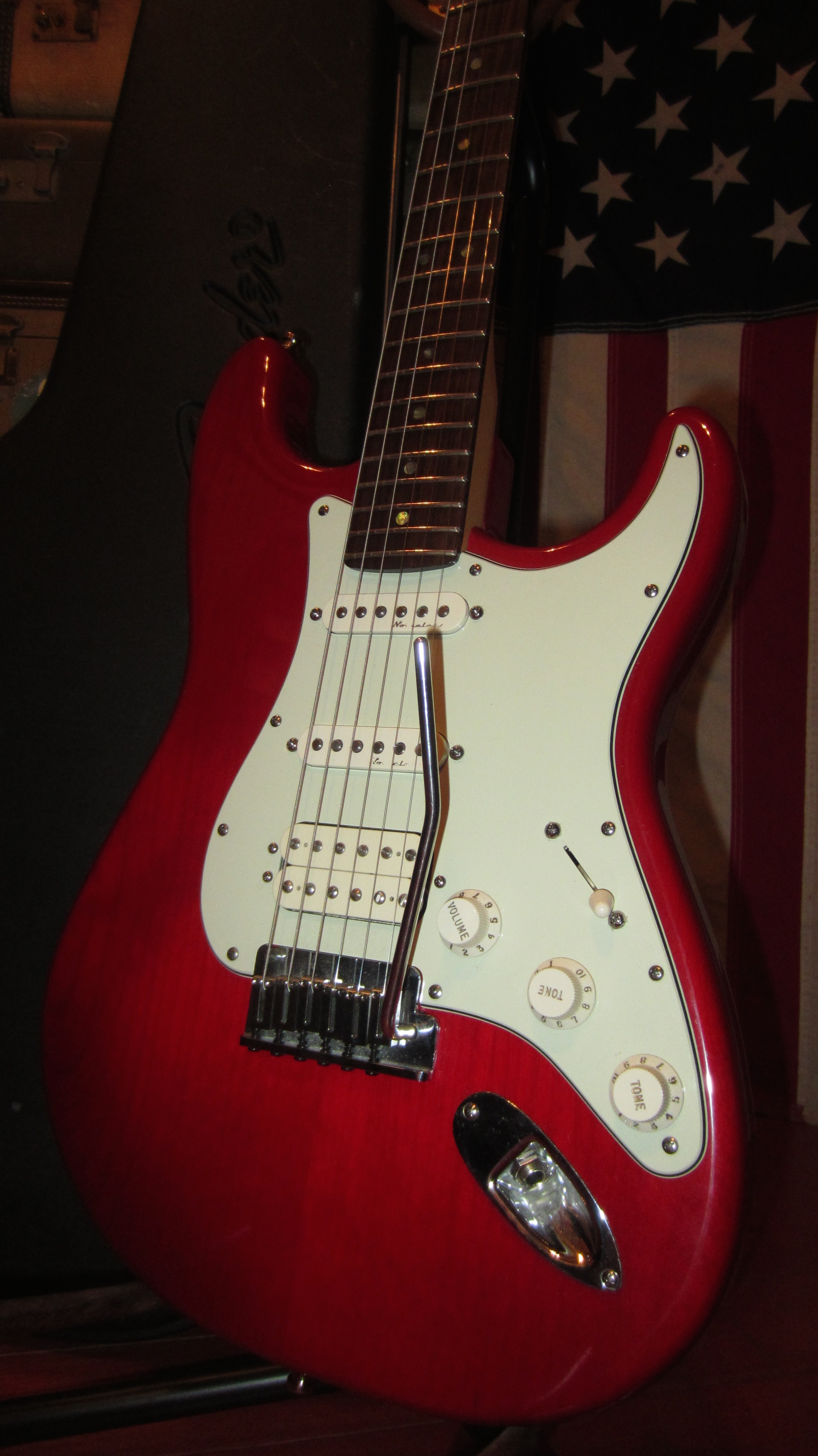 American Express Card >> 1999 Fender American Deluxe Fat Strat HSS Stratocaster ...