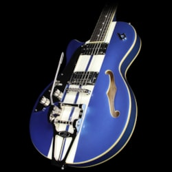 Duesenberg Mike Cambell Starplayer TV Left-Handed Electric Guitar Lake Placid Blue with White Stripes