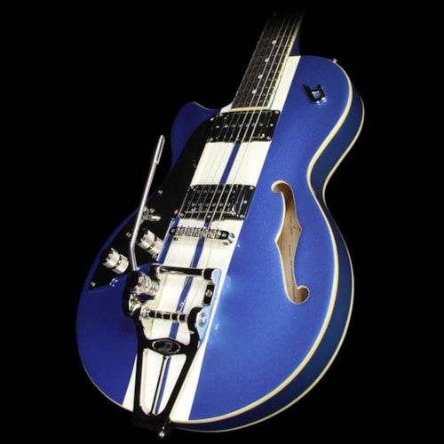 Duesenberg Mike Cambell Starplayer TV Left-Handed Guitar Blue w/ White Stripes