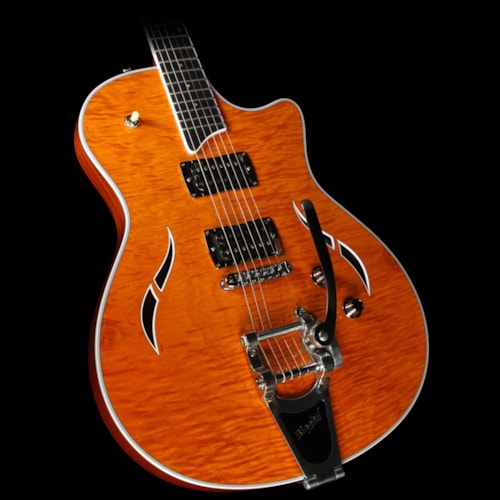 Taylor T3/B Flame Maple Electric Guitar with Bigsby Transparent Orange