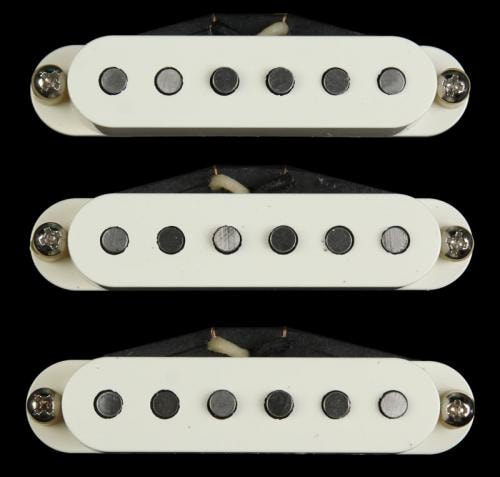 Bare Knuckle Pat Pend Strat® Series 59 Slab Board Pickup Set Parchment