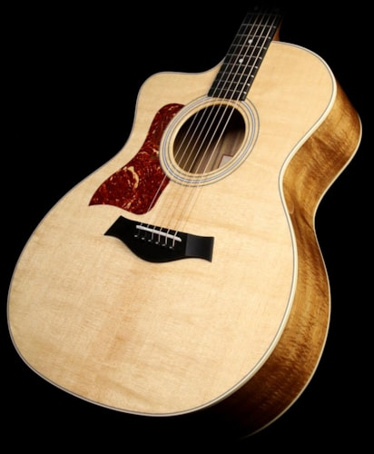 Taylor 214ce Deluxe Koa Left-Hand Grand Auditorium Acoustic/Electric Guitar Natural
