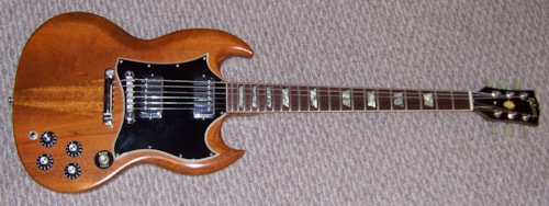 1969 gibson sg standard mahogany guitars electric solid body