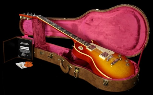 2011 Gibson Custom Shop Used 2011 Gibson Custom Shop '59 Les Paul Historic Reissue Electric Guitar Washed Cherry