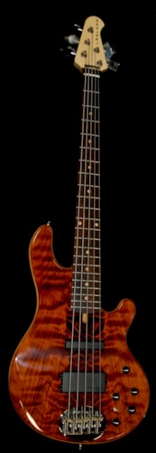 Lakland USA Custom 55-94 Deluxe Exotic Flamed Redwood Bass