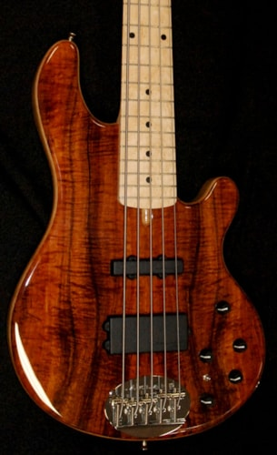 Lakland USA Custom 55-94 Deluxe Exotic AAA Koa Bass