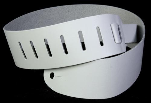 D'Addario Planet Waves 2.5 Inch Basic Leather Strap White