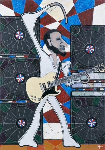 2004 Alex Mortimer The Windmill. An Original Portrait of Pete Townshend